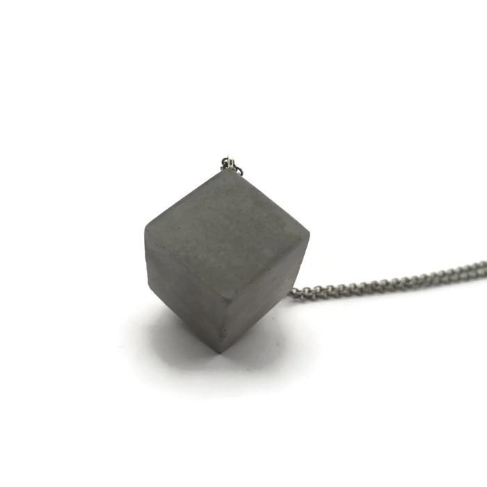 plain grey cube